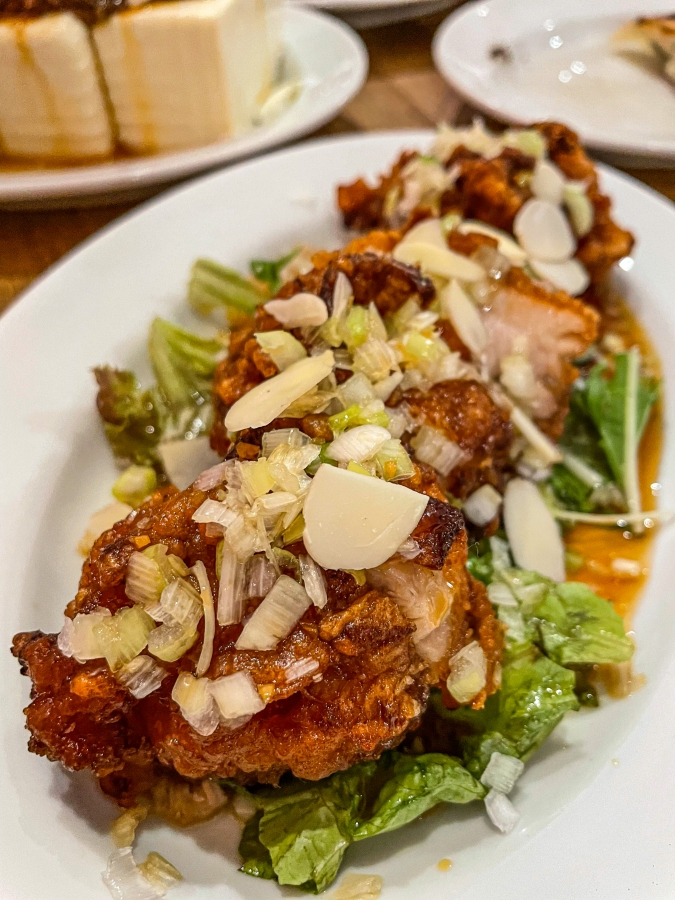 『壽ゑ廣 餃子』油淋鶏