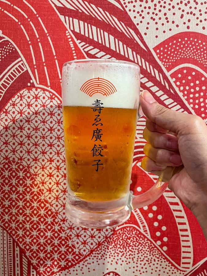 『壽ゑ廣 餃子』ビール